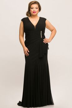 Shelby Evening Gown Fitted Plus Size Formal Dress,