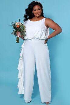 Shania Bridal Plus Size Jumpsuit,