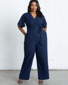 Kiyonna Womens Plus Size Charisma Crepe Jumpsuit,