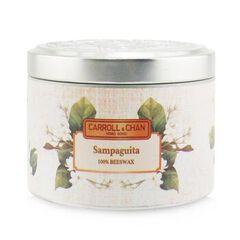 100% Beeswax Tin Candle - Sampaguita,