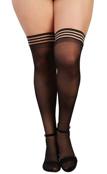 Striped Top Thigh Highs,