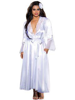 Elegant Charmeuse Long Robe,