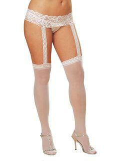 Sheer Garter Belt Suspender Pantyhose,