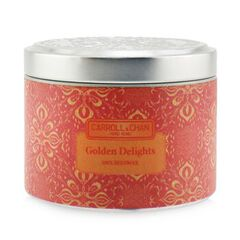 100% Beeswax Tin Candle - Golden Delights, Golden Delights