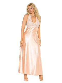 Charmeuse Halter Gown,