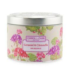 100% Beeswax Tin Candle - Geraniol & Citronella, Geraniol and Citronella