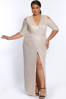 Sequins Of Events Evening Gown Long Sleeve Sequin Formal Dress,