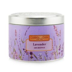 100% Beeswax Tin Candle - Lavender,