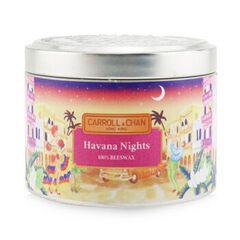 100% Beeswax Tin Candle - Havana Nights, Havana Nights