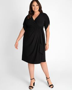 Eden Faux Wrap Dress,