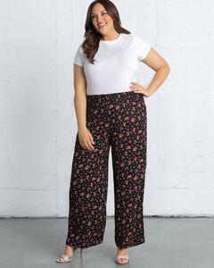 Kora Print Wide-Leg Pants,