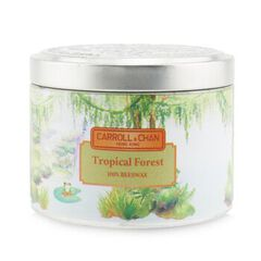 100% Beeswax Tin Candle - Tropical Forest,