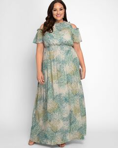 Athena Cold Shoulder Maxi Dress,