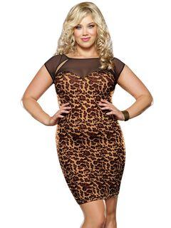 Leopard Print Bodycon Dress,