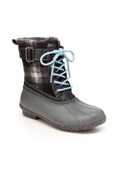 Vancouver Plaid- Waterproof Booties ,