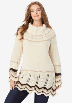Chevron Border Sweater,