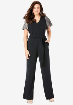 Wide-Leg Jumpsuit,