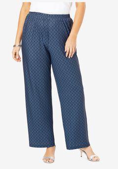 Ultrasmooth® Wide-Leg Pant, NAVY BLUE GEO