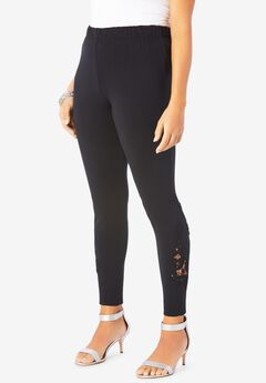 Lace-Inset Essential Stretch Legging,
