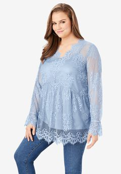 Mesh Lace Swing Tunic,