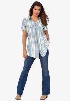 Seersucker Big Shirt,