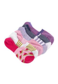 6 Pair Pack No Show Socks,