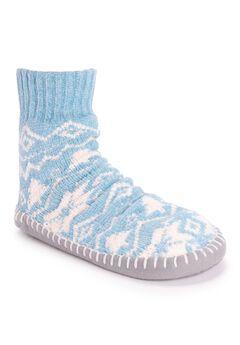 Chenille Short Slipper Sock by Muk Luks®,