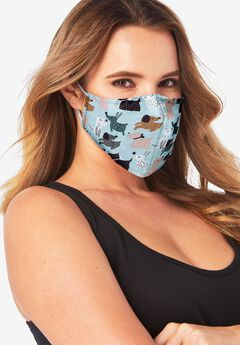 Women's Two-Layer Reusable Face Mask, DOG LOVE