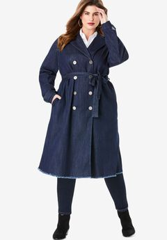 Denim Trench Coat,
