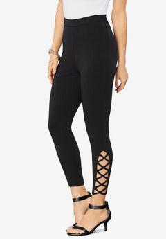 Lattice Essential Stretch Capri Legging,