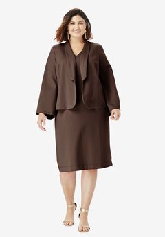 Ultimate Ponte Jacket Dress with Bell Sleeves,