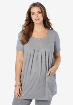 Two-Pocket Soft Knit Tunic,
