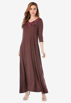 Embroidered Maxi Dress,