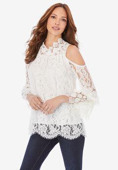 Lace Cold-Shoulder Top,