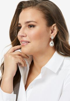 Rhinestone Teardrop Earrings,