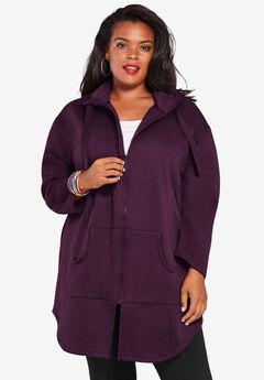 Fleece Zip Hoodie Jacket,