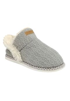 Textured Knit Ankle Slipper Boot Slippers,
