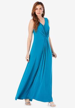 Ultrasmooth® Knot-Detail Maxi Dress,