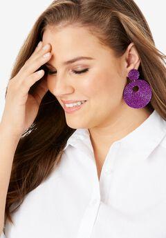 Mod Beaded Earring,