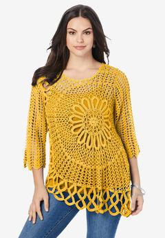 Starburst Crochet Sweater,