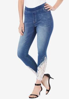 Lace-Applique No-Gap Jean,
