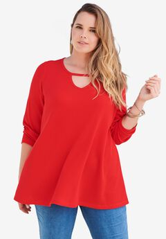 Keyhole Thermal Top, VIVID RED