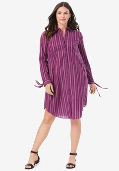 Tie-Sleeve Kate Shirtdress,