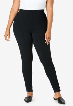 Lace-Trim Essential Stretch Legging,