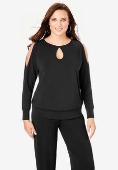 Ultrasmooth® Cold-Shoulder Top,