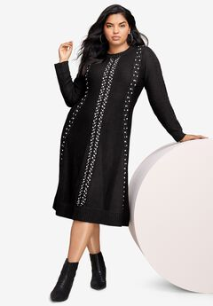 Embellished Fit-And-Flare Dress,