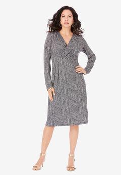 Ultrasmooth® Fabric Wrap Dress,