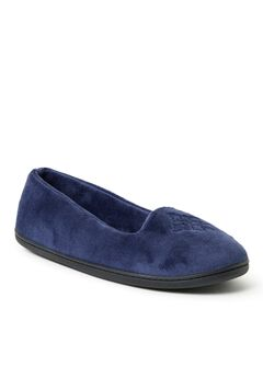 Rebecca Microfiber Velour Closed Back Slippers ,