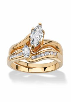 Gold-Plated Bridal Ring Set,