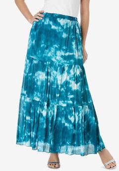 Tie-Dye Maxi Skirt,